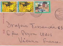 MARCOPHILIE, République Centrafricaine, Lettre Affr.t Composé, Cachet 1991 MONGOUMBA, Champagnat énergie Solaire /2324 - Zentralafrik. Republik
