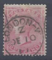 GRANDE-BRETAGNE - 1855/57 - N° 18 OBLITERE - Fil Gr. Jarretière - Cote 100 € - TB  - - Used Stamps