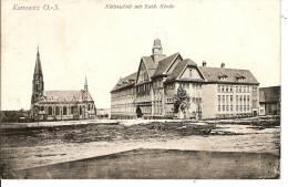 Kattowitz   Kleistsshule Mit Kath Kirche - Deutschland