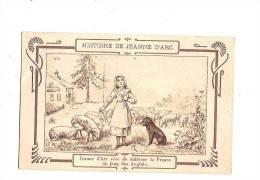 """JEANNE D´ARC. - Histoire De J. D´Arc. N°2. (Cachet """"Chicorée Extra, à La Belle Jardinière"""" Au Dos.) - Personnages Historiques"""