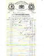 Bruxelles - 1886 - F. Welkenhuysen - Spécialité De Fruits Primeurs - Conserves Alimentaires - Alimentaire
