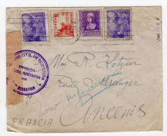 ESPAGNE - LETTRE - CENSURE MILITAIRE  GUBERNATIVA DE SAN SEBASTIAN - 1931-Aujourd'hui: II. République - ....Juan Carlos I