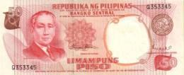 PHILIPPINES P. 146b 50 P 1969 UNC - Filippine