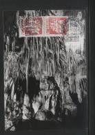 POLAND 1972 10TH NATIONAL SPELIOLOGISTS CONGRESS COMM CANCEL MAXI CARD CAVES CAVING STALCTITES - Géologie