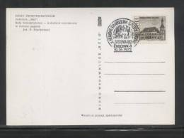 POLAND 1972 10TH NATIONAL SPELIOLOGISTS CONGRESS COMM CANCELPOST CARD CAVES CAVING STALCTITES - Géologie