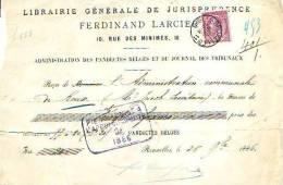 Bruxelles - 1886 - Ferdinant Larcier - Librairie Générale De Jurisprudence - Printing & Stationeries