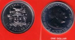 JAMAICA - 1 Dollar 1981 FM - KM#84.1 BU Prooflike [Rare Date]