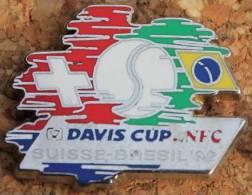 DAVIS CUP - SUISSE / BRESIL 1992 - NEC - ELYXIR LACTION   -     (ROUGE) - Tennis