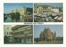 Cp, Angleterre, Newark-on-Trent, Multi-Vues, Voyagée 1994 - Angleterre