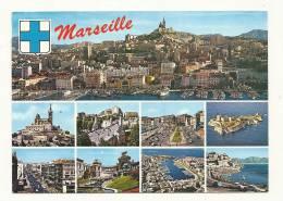 Cp, 13, Marseille, Multi-Vue, Voyagée 1989 - Non Classificati