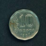 ARGENTINA  -  1967  10 Pesos  Circulated As Scan - Argentina