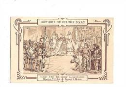 """JEANNE D´ARC. - Histoire De J. D´Arc. N°10. Reims. (Cachet """"Chicorée Extra, à La Belle Jardinière, C. Beriot à Lille) - Personnages Historiques"""