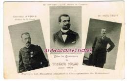 25 - BESANCON : VICTOR HUGO. AOUT 1902. PUB MERCERIE FLUSIN SIMONIN Au VERSO - Besancon