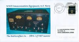 SPAIN, 2012 WWII Communications Equipment, U.S., Navy - The Hallicrafters Co. - RBK-1 Of VHF Receiver - Old Radios - WW2