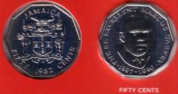 JAMAICA - 50 Cents 1982 FM - KM#70 BU Prooflike [Rare Date]