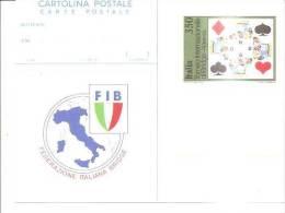 68985)cartolina Illustratoria Fib - Federazione Italiana Bridge - Cartes à Jouer