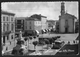 CECINA (LI) - PIAZZA DELLA CHIESA - F/g - V: 1954 - Livorno