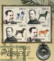 GUINEA BISSAU 2012 - Louis Pasteur, Dogs. Official Issue - Louis Pasteur