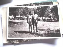 Africa Zimbabwe Rhodesia African Girls With Sheep - Zimbabwe