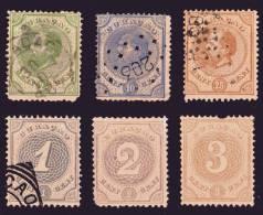 Curaçao Lot De 6 Timbres 1873-89 N°1-4-7-13-14-16 C.62€ - Curacao, Netherlands Antilles, Aruba