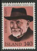Iceland Island 1980 Mi 552 YT 505 ** Jón Sveinsson (Nonni) (1857-1944), Writer / Schriftsteller – Europa Cept - Schrijvers