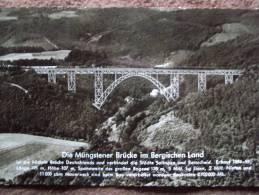DIE MUNGSTENER BRUCKE IM BERGISCHEN LAND, GENERAL BRIDGE, BRIDGE - Ahaus