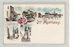 MONTARGIS (45) / Souvenir De MONTARGIS / Riez De La Pêcherie - Place De Paris - Eglise Et Rue Du Loing/Etc... Précurseur - Montargis