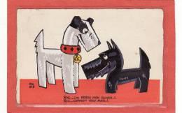 ILLUSTRATEUR / POL RAB Illustrateur Lithographe Des Années 1920 / RIC ET RAC  Véritable Carte à La GOUACHE/ RARE - Altre Illustrazioni