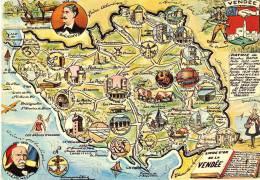 La  Vendée Historique  Carte Géographique - Unclassified