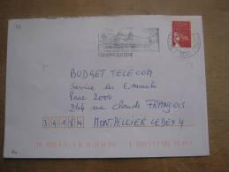 FRANCE / ENVELOPPE - FLAMME - TIMBRE  / E25479   Yvelines 78 Carrières-sur-Seine Son Golf 2003 - Maschinenstempel (Werbestempel)