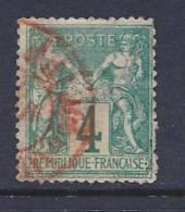 France, Scott # 66 Used Sage, 1876, Some Blunt Perfs - 1876-1878 Sage (Type I)