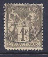 France, Scott # 76 Used Sage, 1876, Some Blunt Perfs - 1876-1878 Sage (Type I)