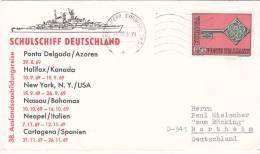 """Dt. Marine Schiffspost, Schulschiff """"Deutschland"""" 38. Auslands-Ausbildungsreise, St: Napoli Ferr.Corrisp.Ord. 28.11.1969 - Maritime"""