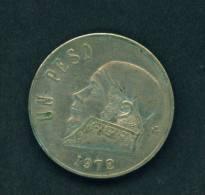 MEXICO  -  1972  1 Peso  Circulated As Scan - Mexico