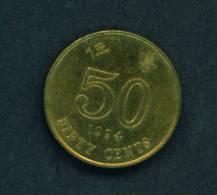 HONG KONG  -  1994  50 Cents  Circulated As Scan - Hong Kong
