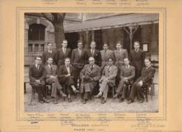 Photo College Chaptal --- Paris 1940 - 1941 --- ( Certains Personnages Identifies ) - Personnes Identifiées
