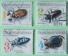 Czechoslovakia 1992 Beetles Insects - Used - 4 K Mint No Gum - Czechoslovakia