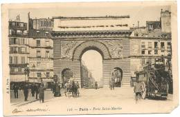 PARIS 10 - Porte Saint-Martin (avec Saupoudrage Brillant)    - ER 116 - Arrondissement: 10