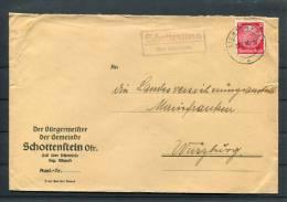 1940 Germany Schottenstein Lichtenfels Landpoststempel Briefe - Briefe U. Dokumente