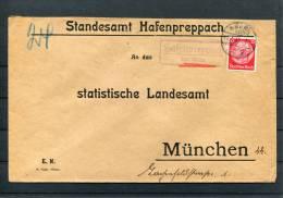 1935 Germany Hafenpreppach Ebern Landpoststempel Briefe - Briefe U. Dokumente