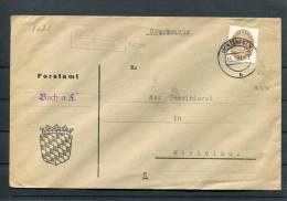 1934 Germany Buch A. Furst Lichtenfels Land Landpoststempel Briefe - Briefe U. Dokumente