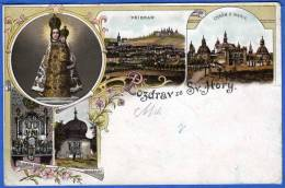 Litho,POZRAV ZE SV. HORY,1900? - Tchéquie