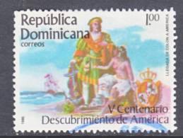 Dominican Republic 954  (o)  COLUMBUS  DISCOVERS  AMERICA - Dominican Republic