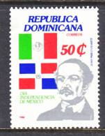 Dominican Republic 1029  *  MEXICO  FLAG - Dominican Republic