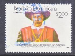 Dominican Republic 1038  (o)  COLUMBUS  DISCOVERS  AMERICA - Dominican Republic