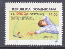 Dominican Republic 1055  (o)  ANTI-DRUG - Dominican Republic