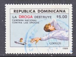 Dominican Republic 1058  (o)  ANTI-DRUG - Dominican Republic