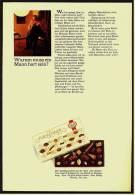 Reklame Werbeanzeige  Lindt Pralinen - Warum Muß Ein Mann Hart Sein? , Von 1968 - Andere Sammlungen