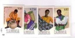 ZAMBIE 1988 ARTISANAT YVERT N°441/44  NEUF MNH** - Zambie (1965-...)