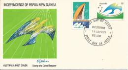 1975 Independence Of Papua New Guinea  Set 2  FDI Cheltenham Vic 3192 16 Sept 1975 - Premiers Jours (FDC)